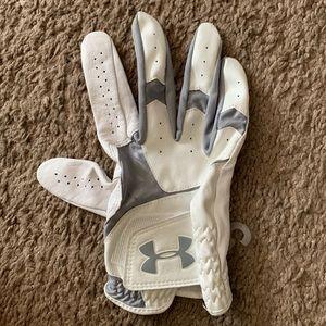 Under Armour Men Golf Glove Right White/Gray Sz L